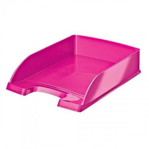 Лоток для бумаг Leitz WOW розовый глянец