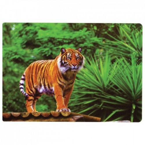"Коврик на стол для письма и творчества BRAUBERG, размер А4, пластик, ""Тигр"", 227255"