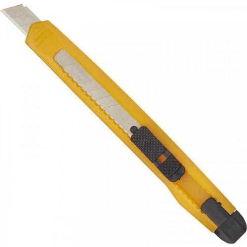 Нож канцелярский Attache 9 мм с фиксатором, упаковка полибег