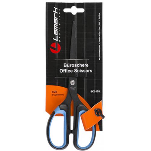 Ножницы 203мм с покрытием non-stick пластиковые ручки с мягкими вставками