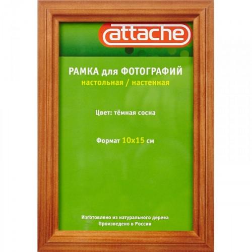 Рамка для фотографий Attache 10х15 см дерево защитное стекло настольная/настенная