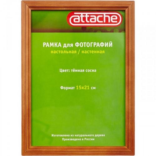 Рамка Attache А5 темная сосна деревянный багет настольная/настенная стекло