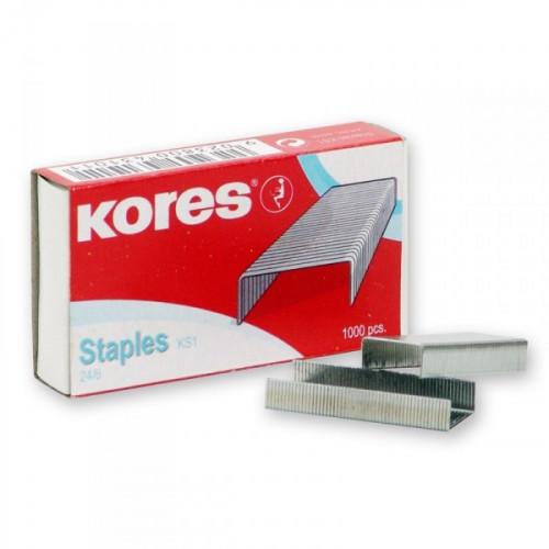 Скобы для степлера №24/6 KORES 1000 штук в упаковке