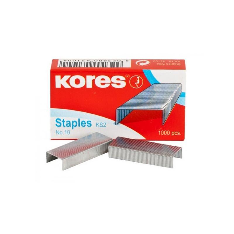 Скобы к степлеру №10 KORES 1000 штук в упаковке