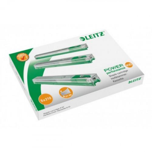 Кассета K10 со скобами Leitz №26/10 для степлера 5551 и 5550 до 55 листов 5 штук в упаковке
