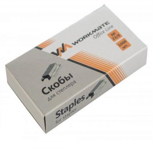 Скобы для степлера OFFICE LINE №23/8 1000 шт в картонной коробке, оцинкованные