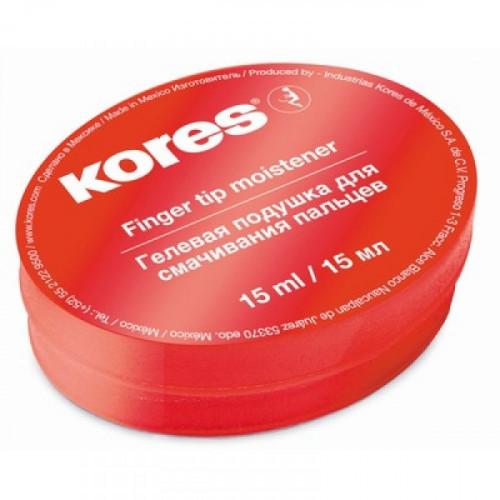 Подушка для смачивания пальцев KORES гелевая 15 мл