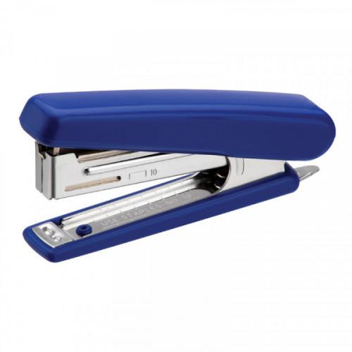 Степлер N10, 20 листов, глубина закладки 50 мм, 50 скоб, пластик, темно-синий, Kangaro HS-J10, антистеплер