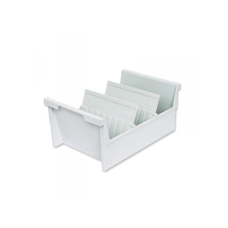 Картотека для карточек Han А5 на 1000 карточек 325x226x160 мм открытая