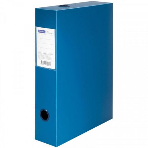 Короб архивный на кнопке OfficeSpace разборный, 70мм, пластик, 700мкм, синий, до 750л.