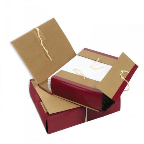 Папка архивная 4 завязки Attache A4 12 см крафт/бумвинил