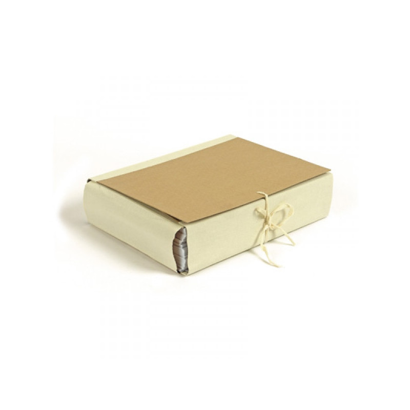 Папка архивная A4 Attache 8 см 4 завязки крафт/коленкор