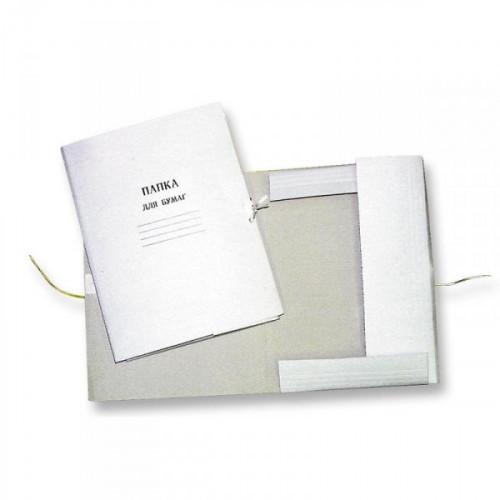 Папка для бумаг с завязками немелованный картон