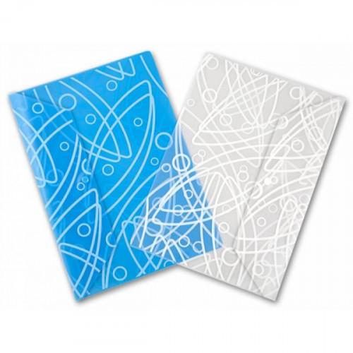 """Папка-конверт с кнопкой c рисунком """"Galaxy"""" толщина 0,18 мм прозрачный пластик"""