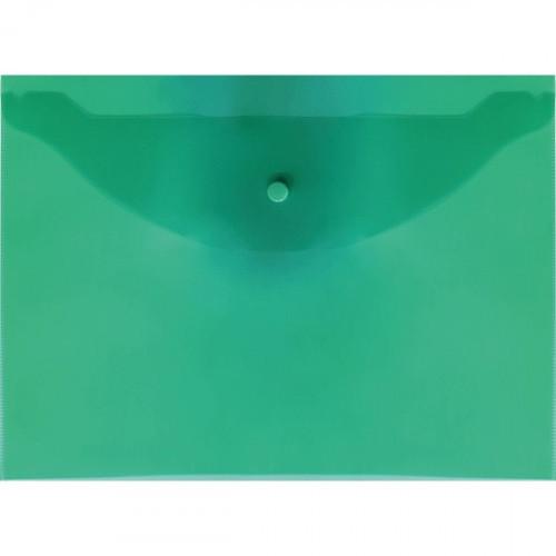 Папка-конверт на кнопке Attomex  А4, 120мкм, зеленая