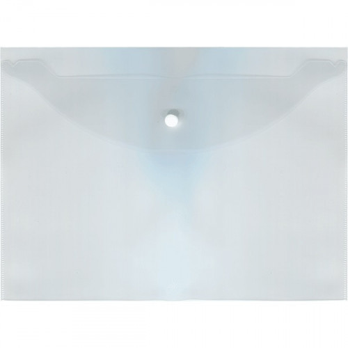 Папка-конверт на кнопке Attomex  А4, 120мкм, прозрачная