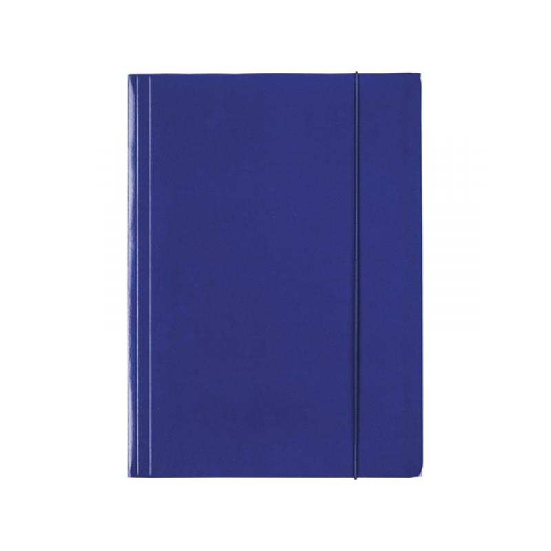 Папка Esselte на резинке из лакированного картона А4 синий