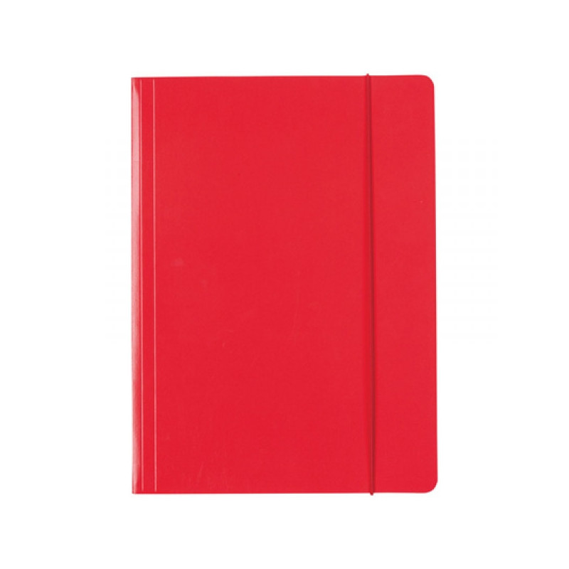 Папка Esselte на резинке из лакированного картона А4 красный