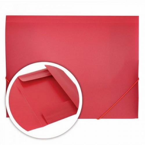Папка на резинках DOLCE COSTO Эконом, A4, красная