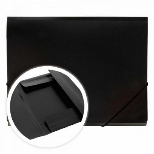 Папка на резинках DOLCE COSTO Эконом, A4, черная