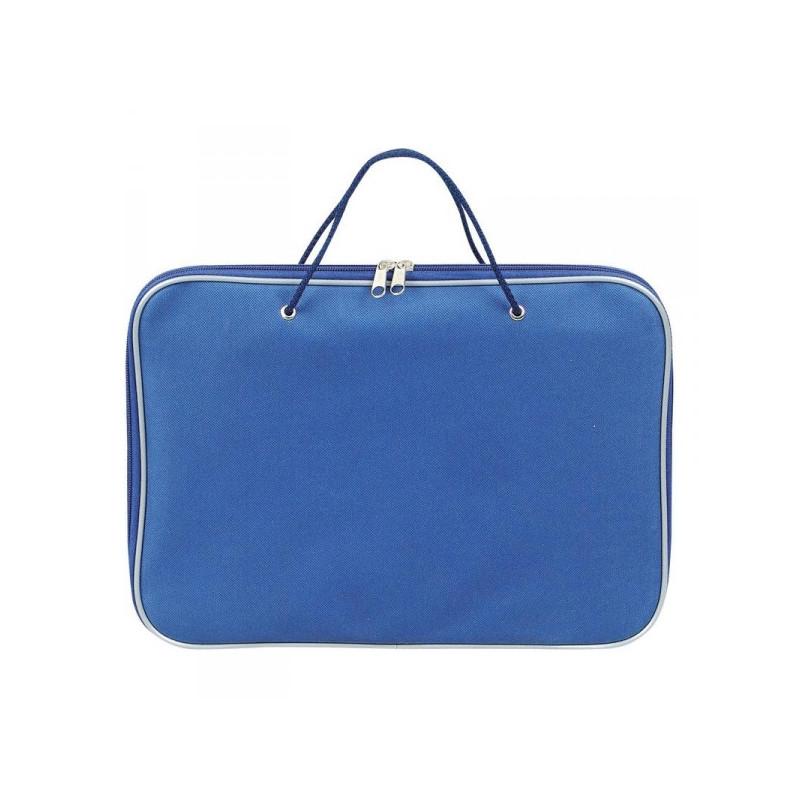 Папка-портфель Attache нейлоновая А4 синяя 340x260 мм