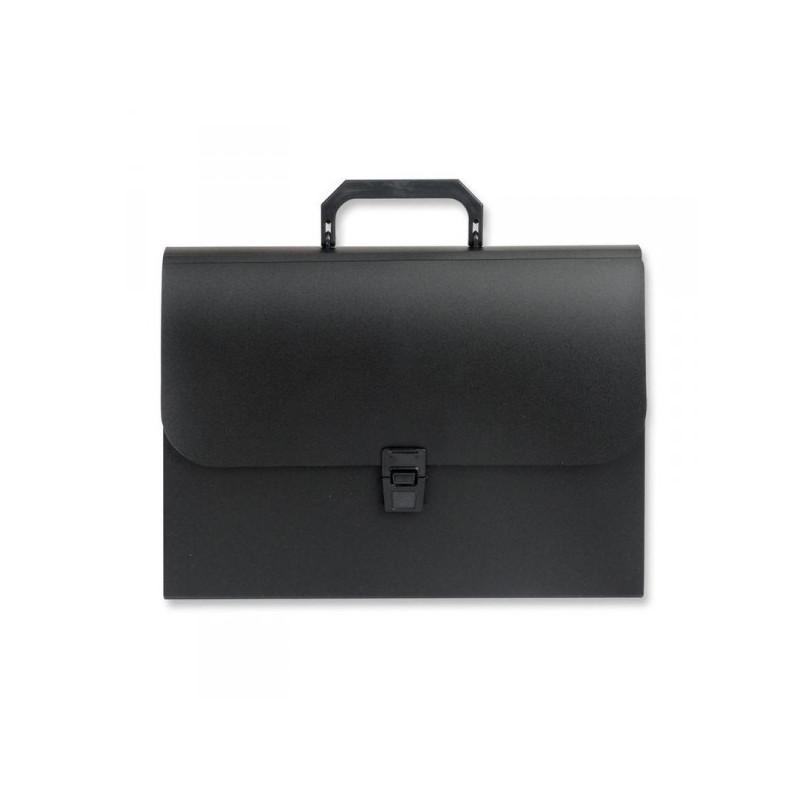 Папка-портфель Attache пластиковая А4 черная 216x303 мм 12 отделений