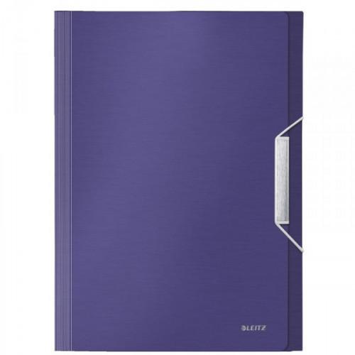 Папка-портфель Leitz Style пластиковая А4 синий титан 254x330 мм 6 отделений