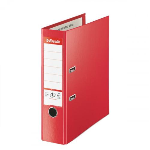 Папка с арочным механизмом Esselte Стандарт Плюс А4+ 215х305 мм корешок 80 мм красная