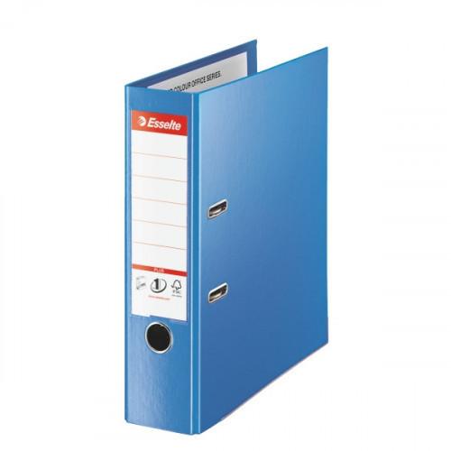 Папка с арочным механизмом Esselte Стандарт Плюс А4+ 215x305 мм корешок 80 мм синяя