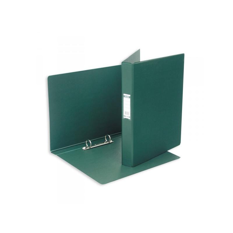 Папка на 2 кольца Bantex картонная/пластиковая 35 мм темно-зеленая