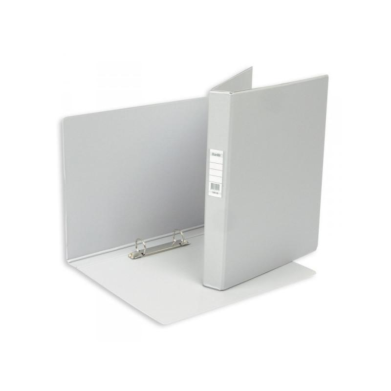 Папка на 2 кольца Bantex картонная/пластиковая 35 мм серая