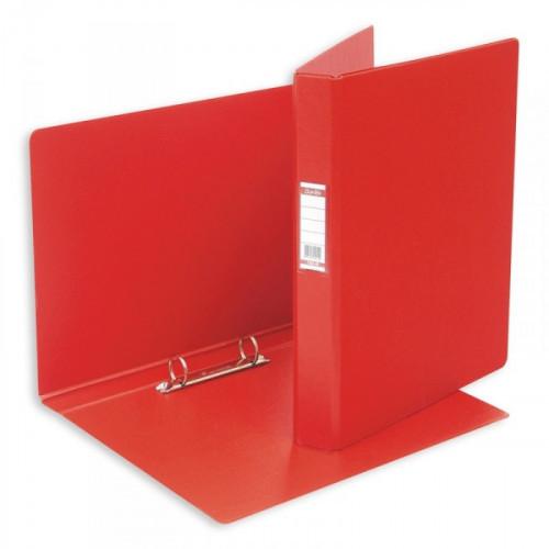 Папка на 2 кольца Bantex картонная/пластиковая 35 мм красная