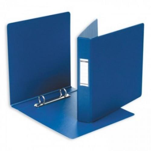 Папка на 2 кольца Bantex А5 154x216 мм картонная/пластиковая корешок 35 мм синяя