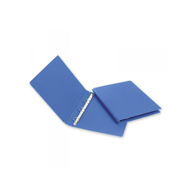Папка на 4-х кольцах Bantex картонная/пластиковая 25 мм синяя