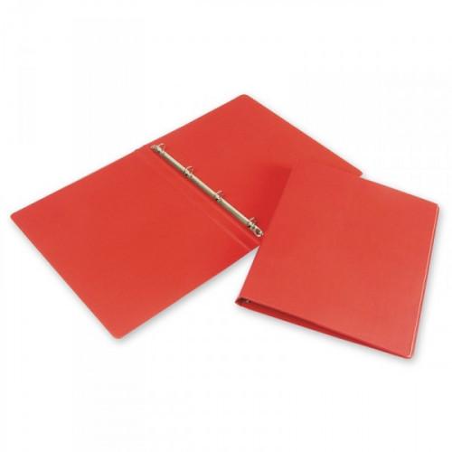 Папка на 4-х кольцах Bantex картонная/пластиковая 25 мм красная