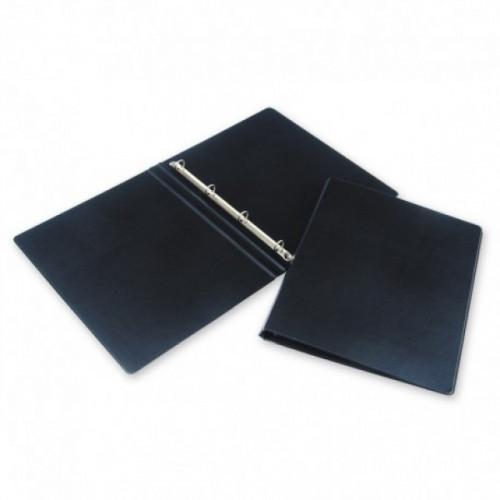 Папка на 4-х кольцах Bantex картонная/пластиковая 25 мм черная