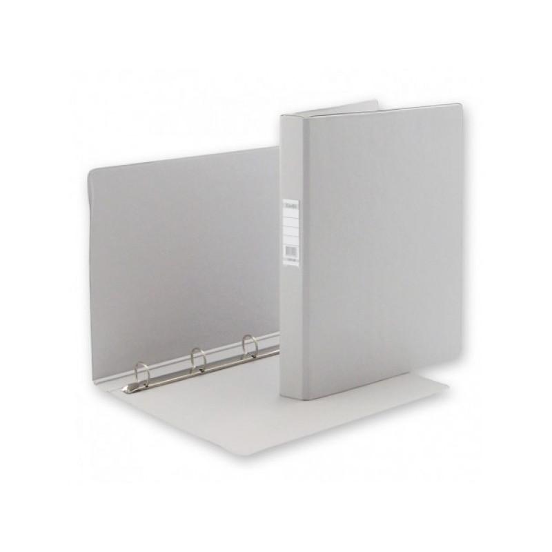 Папка на 4-х кольцах Bantex картонная/пластиковая 35 мм серая