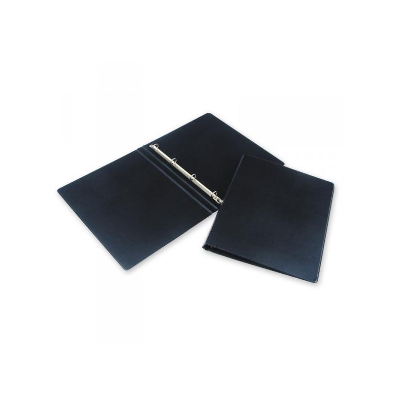 Папка на 4-х кольцах Bantex картонная/пластиковая 35 мм черная