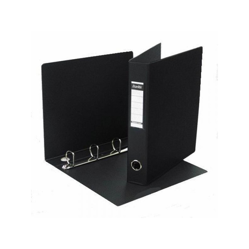 Папка на 4-х кольцах Bantex картонная/пластиковая 50 мм черная