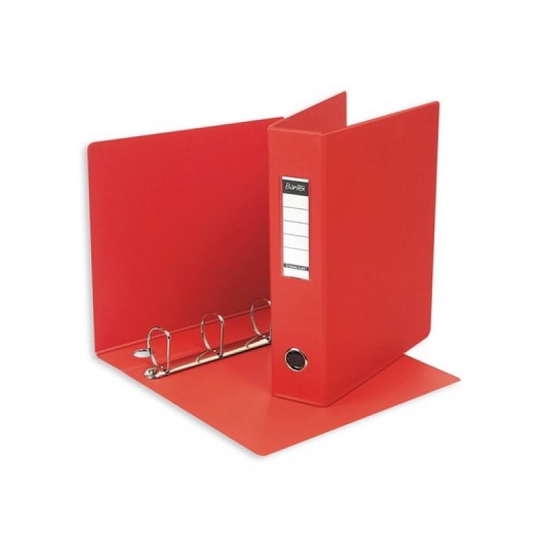 Папка на 4-х кольцах Bantex 60 мм картонная/пластиковая красная