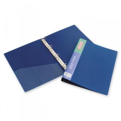 Папка на 4-х кольцах Attache 32 мм пластиковая синяя