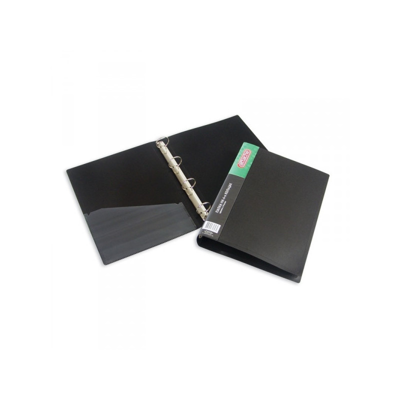 Папка на 4-х кольцах Attache пластиковая 42 мм черная