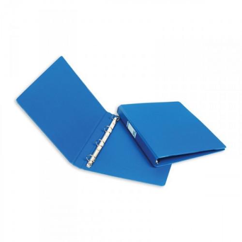 Папка на 4-х кольцах Bantex картонная/пластиковая 35 мм синяя