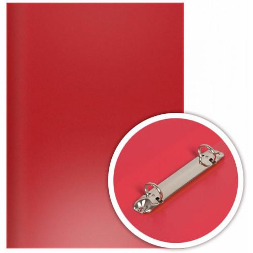 Папка на 2-х O-кольцах 25мм, d кольца 16мм, 350мкм, пластик, красная, DOLCE COSTO