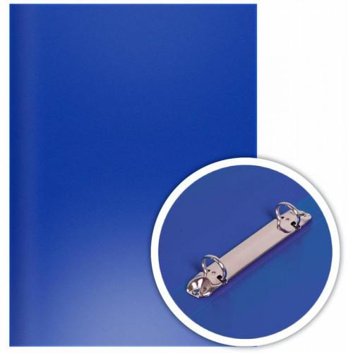 Папка на 2-х O-кольцах 25мм, d кольца 16мм, 350мкм, пластик, синяя, DOLCE COSTO
