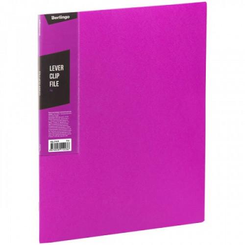 "Папка с зажимом Berlingo ""Color Zone"", 17мм, 600мкм, розовая"