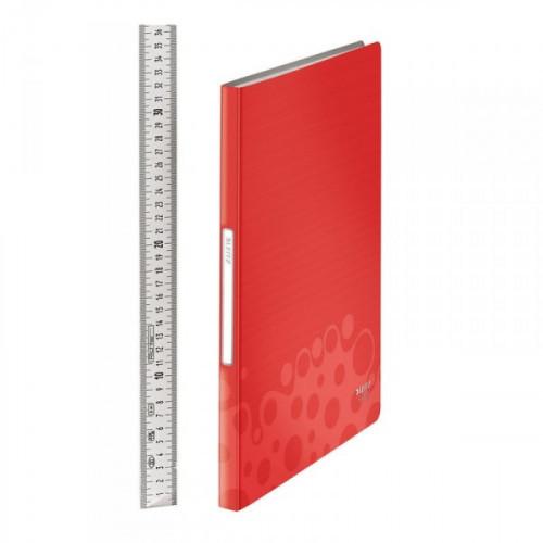 Папка с 40 прозрачными вкладышами Leitz BeBop красная
