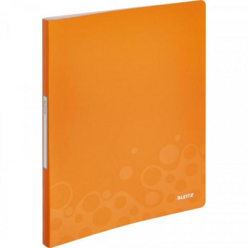 Папка с 40 файлами Leitz WOW оранжевый