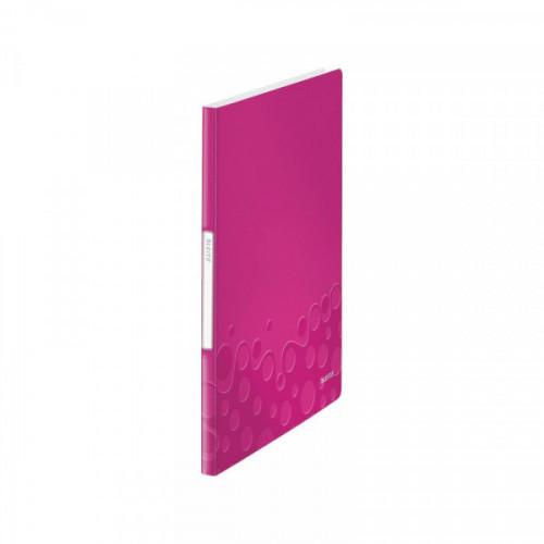 Папка с 40 файлами Leitz WOW розовая