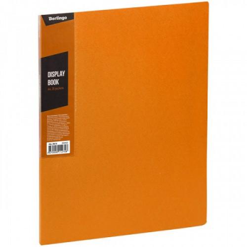 """Папка с 20 вкладышами Berlingo """"Color Zone"""", 14мм, 600мкм, оранжевая"""